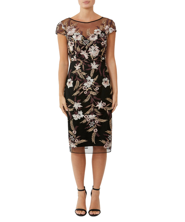 Rosewood Embroidered Dress