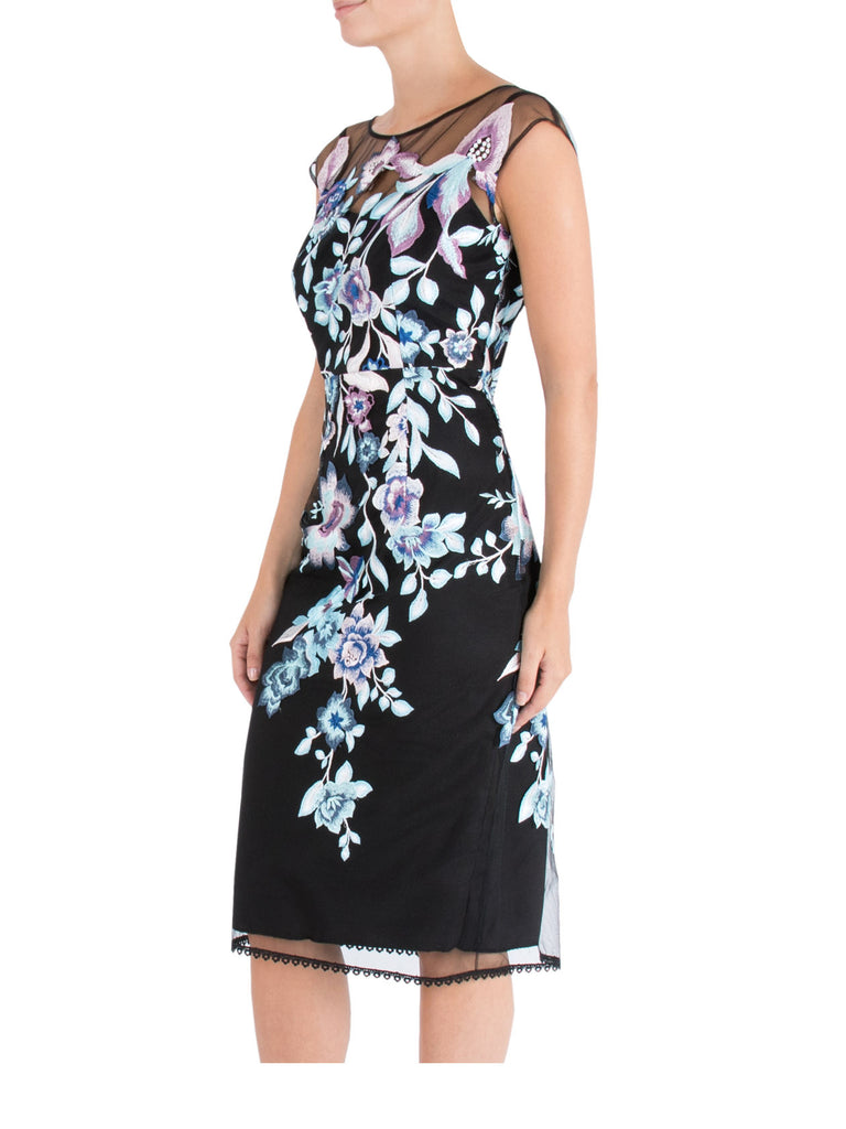 Aster Embroidered Shift Dress
