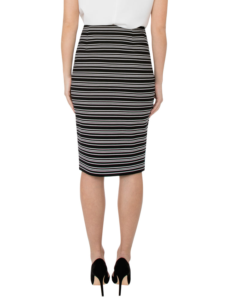 Striped Ribbed Skirt