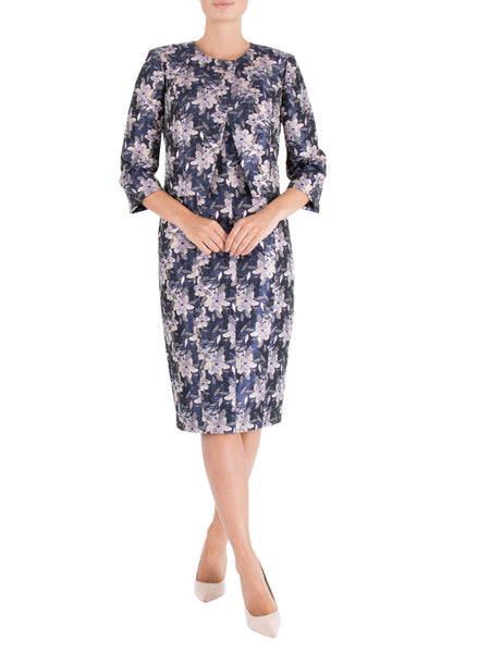 Orchid Jacquard Shift Dress