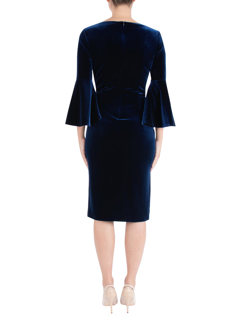 Sapphire Velour Shift Dress