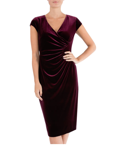 Plum Velour Dress