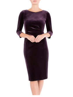Aubergine Velour Dress