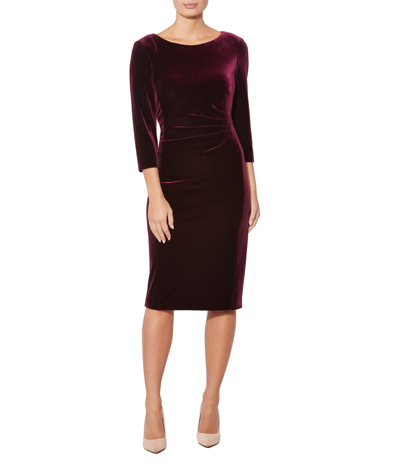 Plum Velour Shift Dress