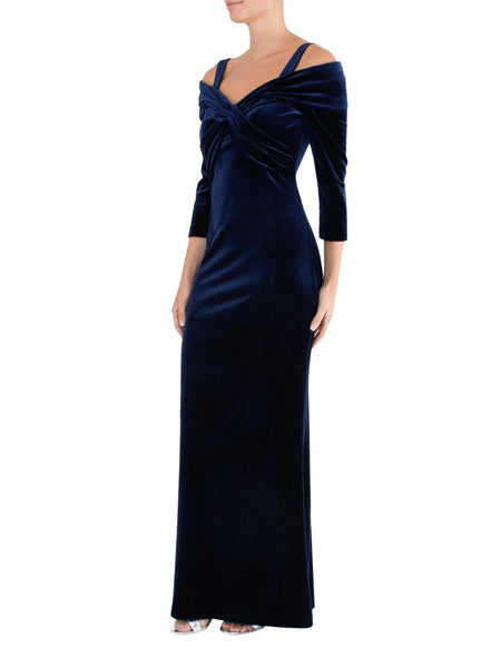 Moonlight Crossover Velour Gown
