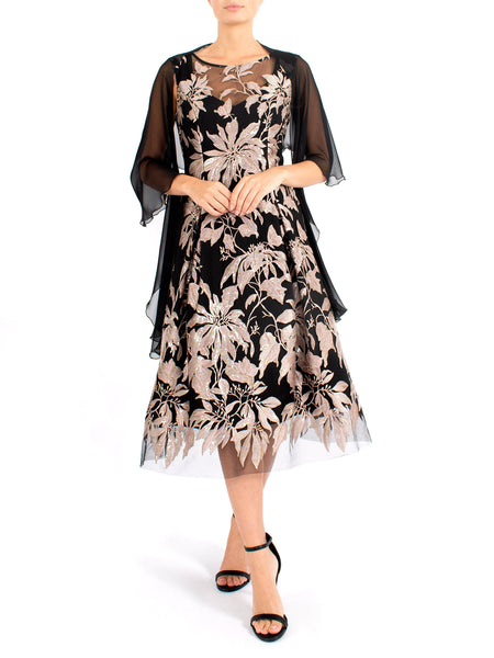 Dove Embroidered Lace Dress
