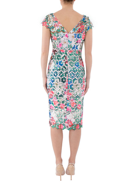 Havana Printed Lace Dress