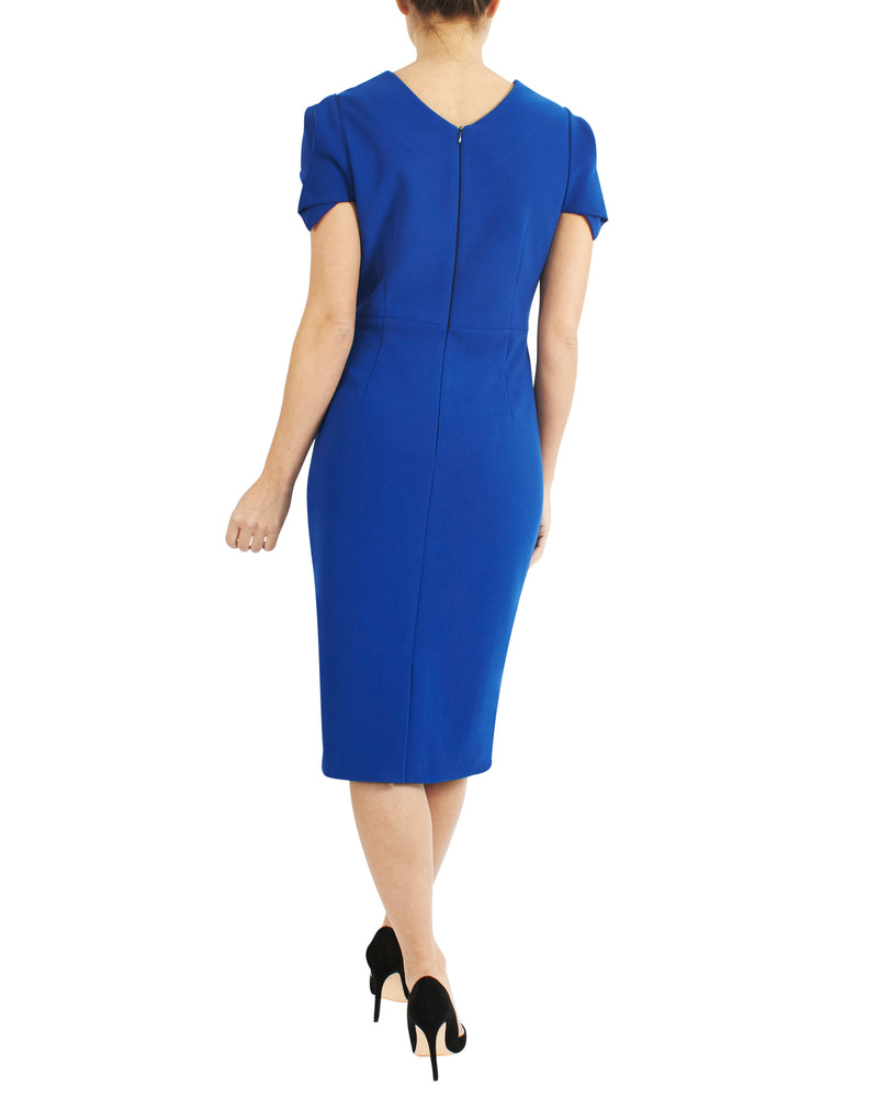 Electric Cap Sleeve Dress