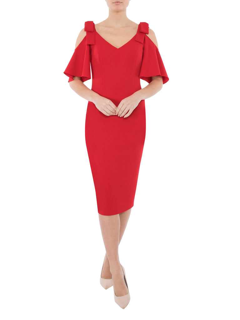 Flame Crepe Dress