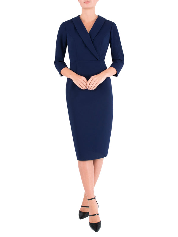 Nautical Crepe Dress
