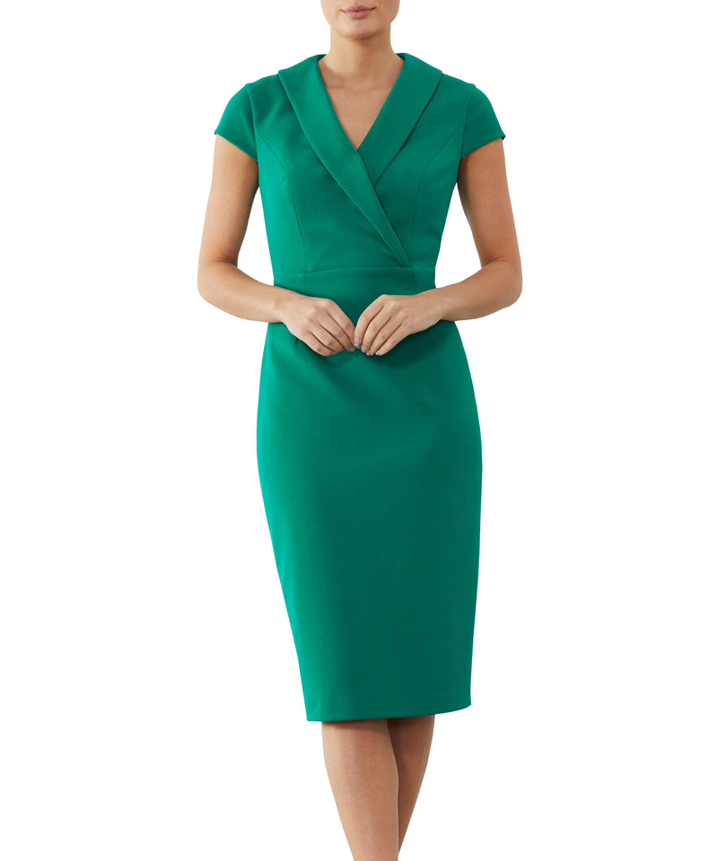 Jade Crepe Dress