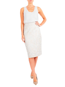 Bisque Jacquard Skirt
