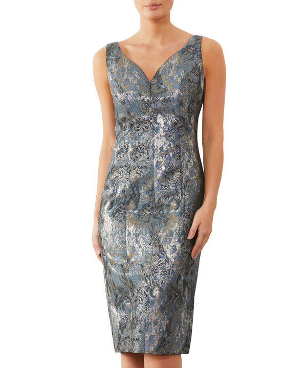 Wedgewood Jacquard Dress