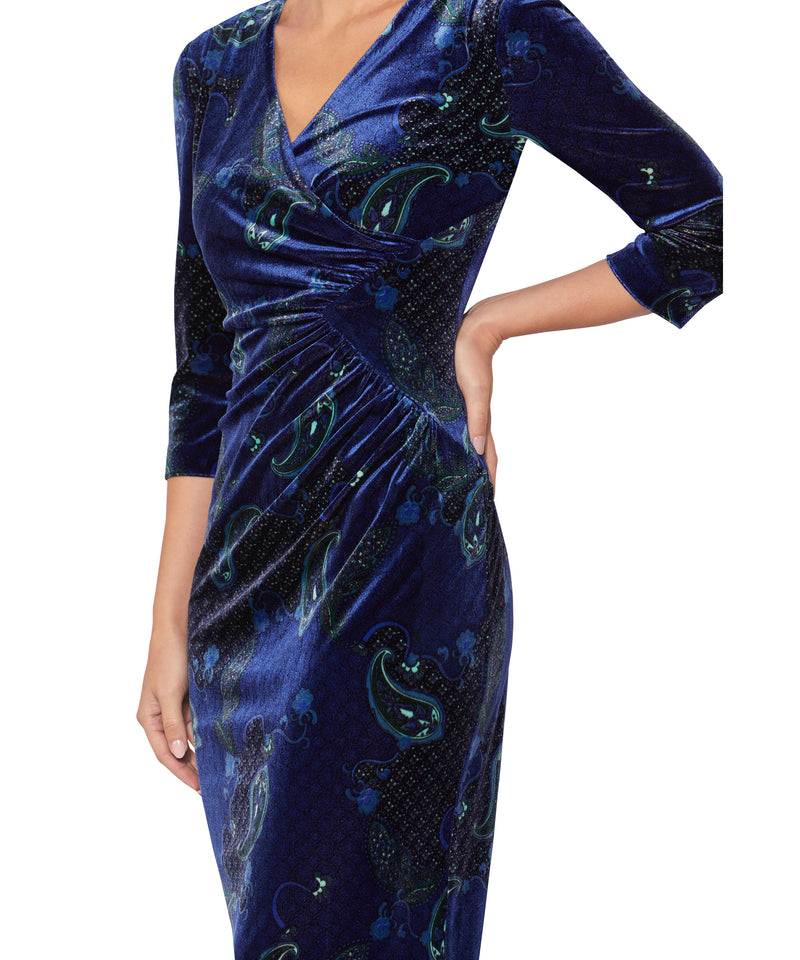 Paisley Velour Dress