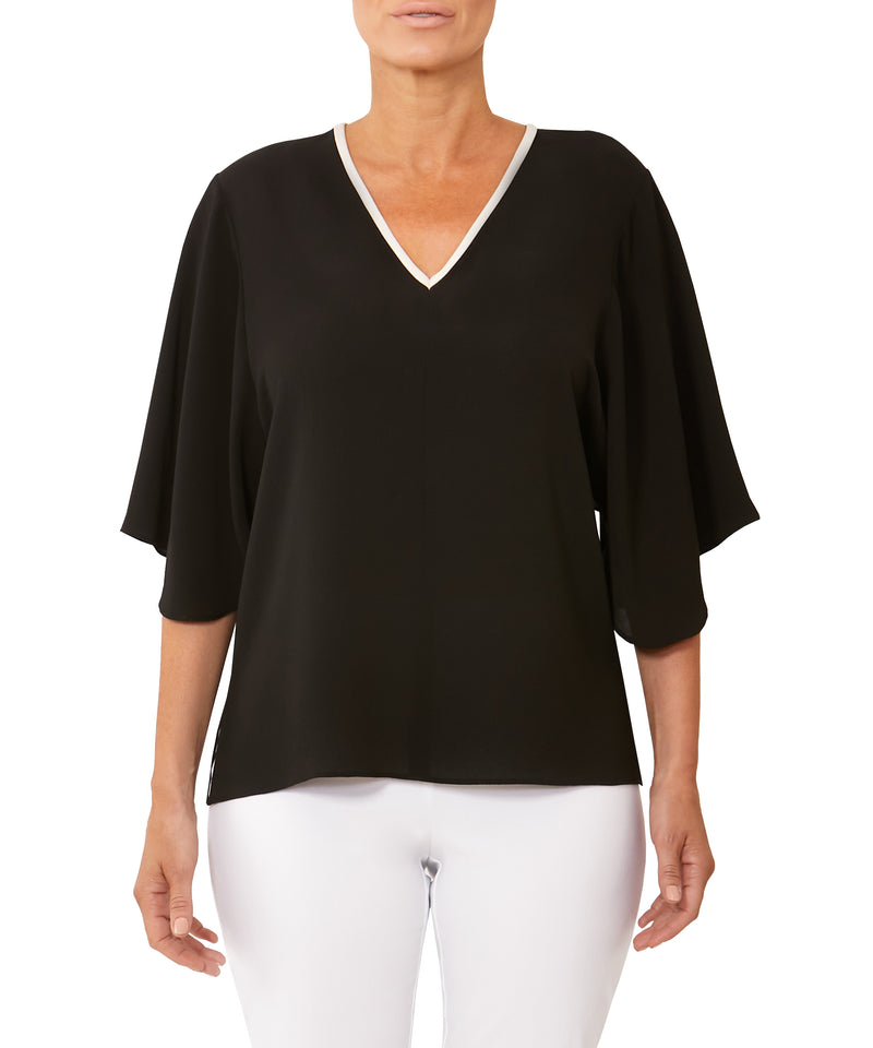 Sophia Flutter Sleeve Top