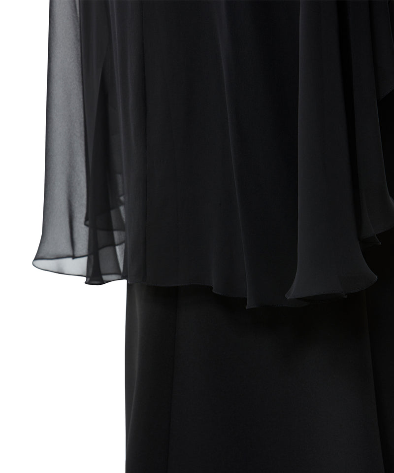 Black Shawl Gown
