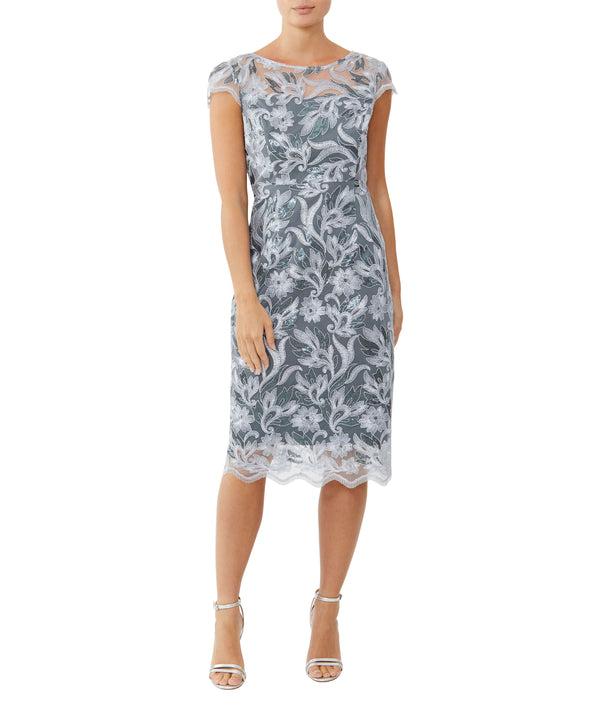 Glacier Embroidered Shift Dress