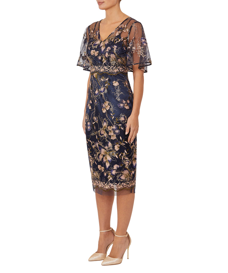 Freesia Embroidered Tulle Dress