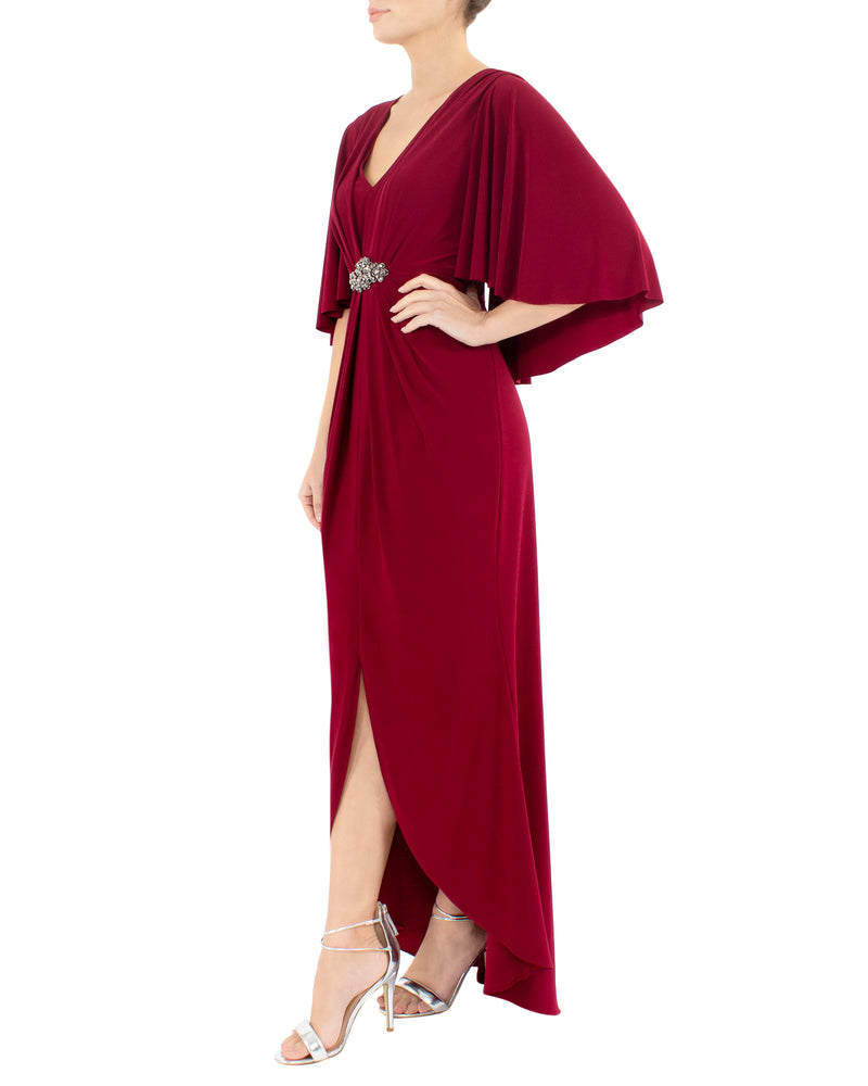 Ruby Cape Gown