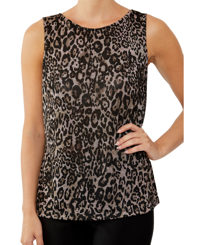 Leopard Marle Jersey Top