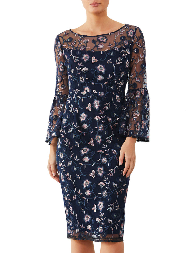 Empress Embroidered Shift Dress