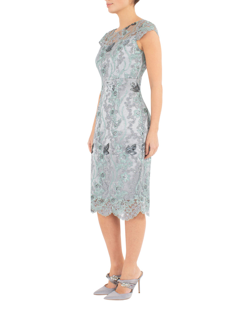 Mist Embroidered Shift Dress
