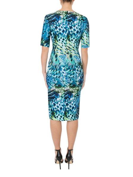 Sea Leopard Jersey Dress