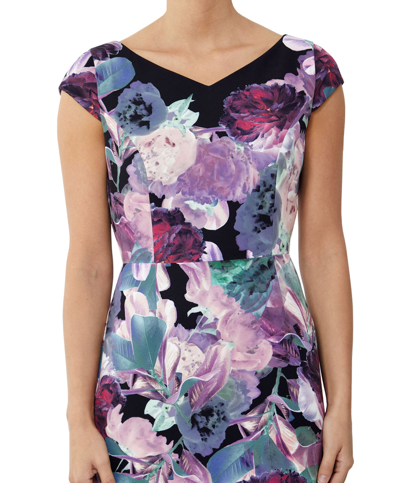 Rose Printed Shift Dress