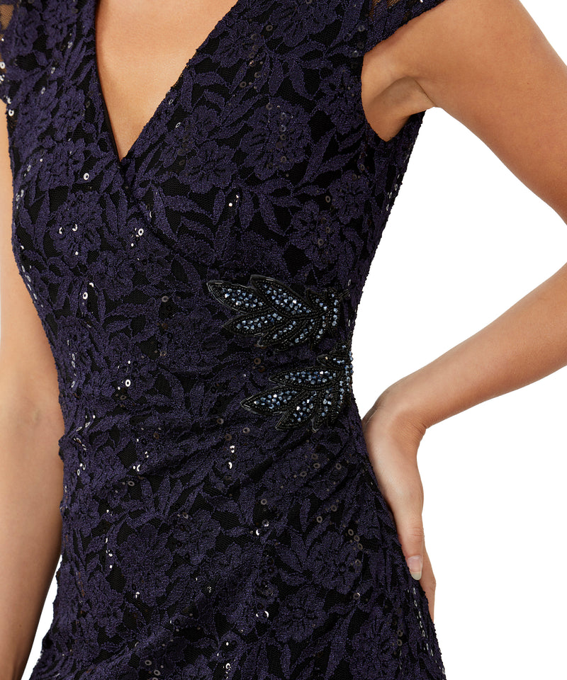 Amethyst Sequin Lace Dress