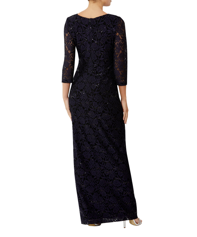 Amethyst Sequin Lace Gown