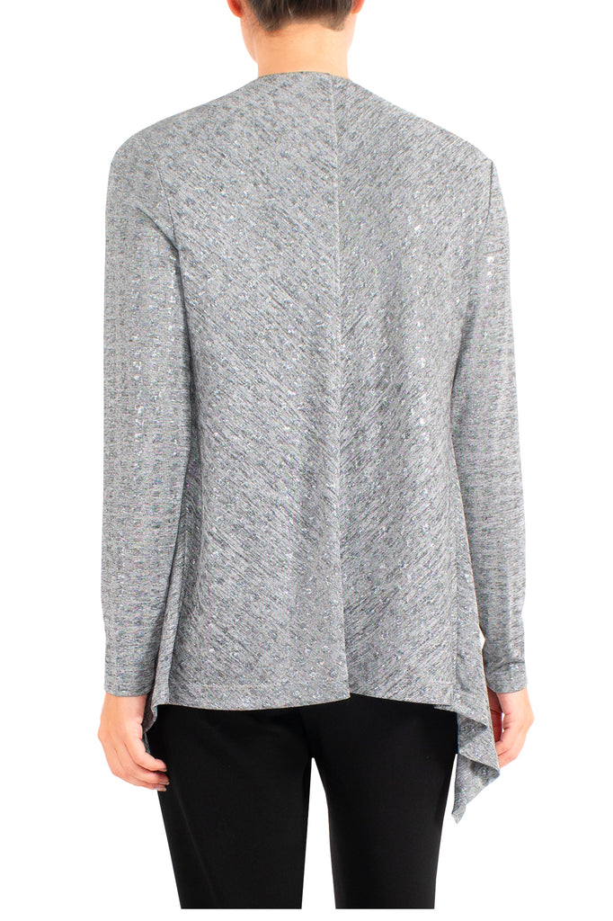 Grey Marle Jersey Jacket