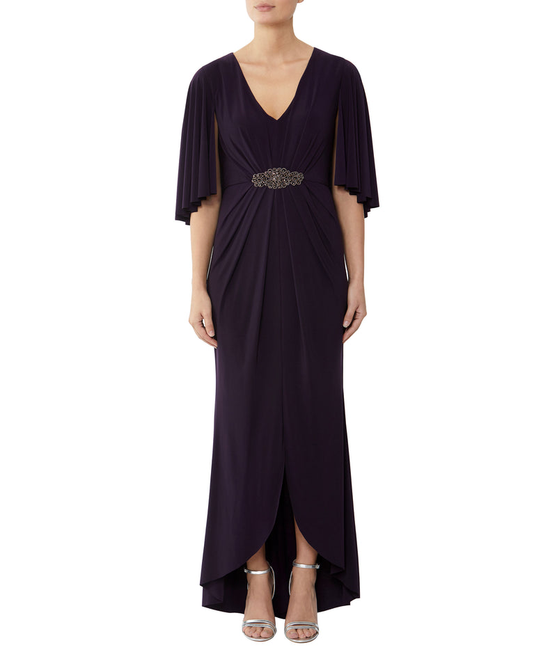 Blackcurrant Cape Gown