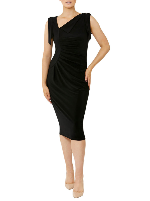 Black Asymmetrical Jersey Dress