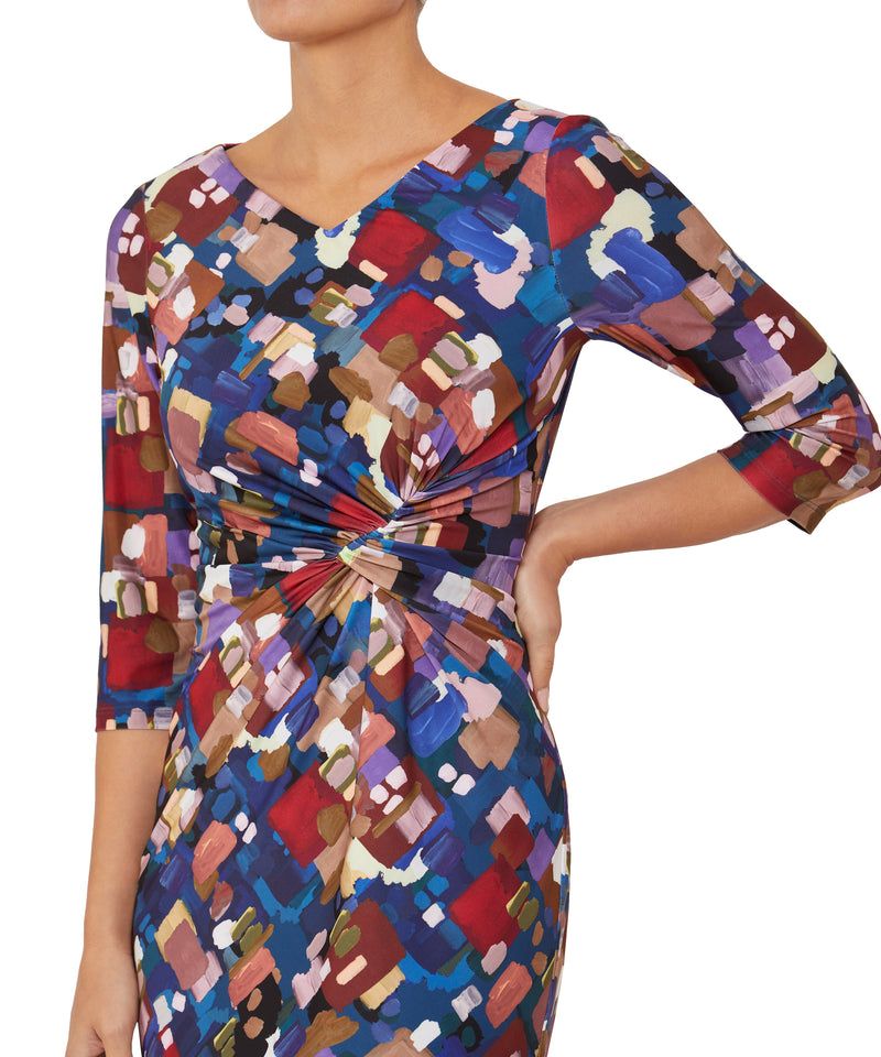 Painterly Jersey Dress