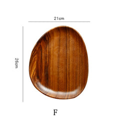 Irregular Oval Solid Wood Pan Plate