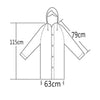 Image of Transparent Hooded Fashionable Raincoat