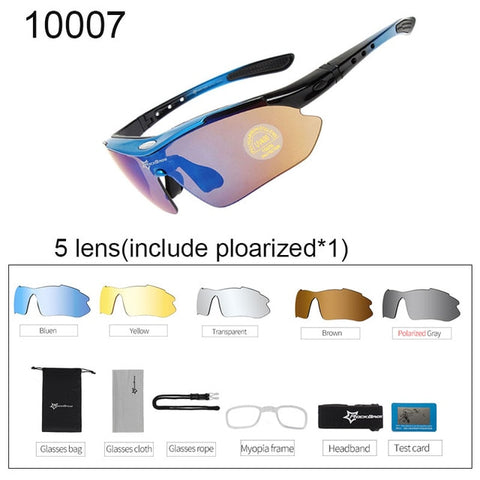 Polarized Cycling Sun Glasses Outdoor Sports  Men Women