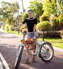 Electric Fat Tire Retro Bike Cruiser Bike