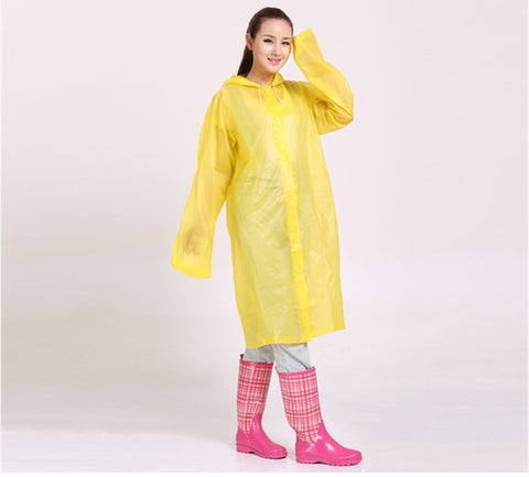 Transparent Hooded Fashionable Raincoat