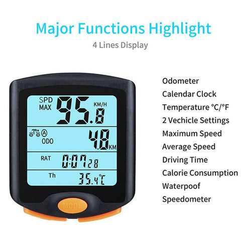 Digital Multi Function Bike Speedometer