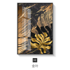 Image of Nordic Plants Golden leaf canvas painting posters