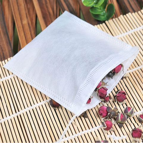 Tea Bags 100Pcs Empty Scented with Drawstring Bag 5*7CM