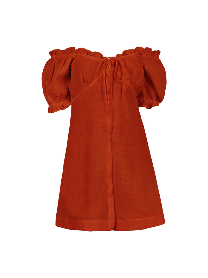 VALENTINA DRESS RUST