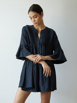 DELFINA DRESS MIDNIGHT NAVY