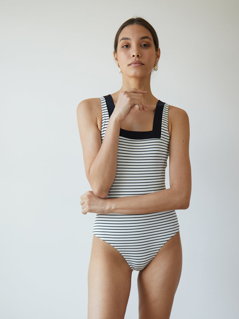MARINA MAILLOT STRIPED