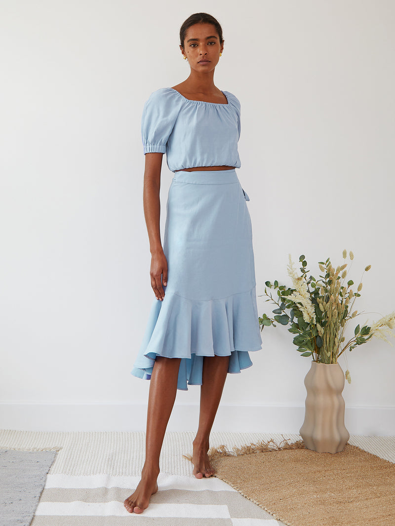 SIENA TOP PALE BLUE