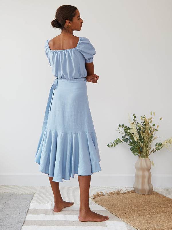 CECILIA SKIRT PALE BLUE