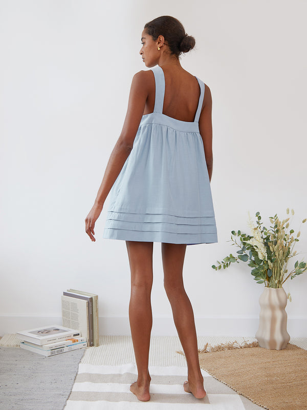 SANDRA DRESS PALE BLUE