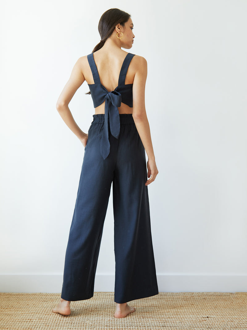 NATALIA TROUSERS MIDNIGHT NAVY