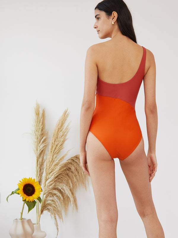 MAGDA MAILLOT TERRACOTA/ORANGE